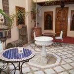 Courtyard. Breakfast can be taken in the courtyard.
