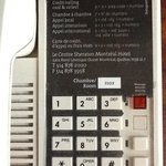 what hotel uses another hotels used phones! OMG!  At least remove the evidence!