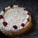 torta chantilly  con le fragole