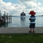 Waiting for the boat!  Skaneateles Lake