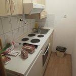 La cuisine du studio au 2eme etage