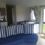 Interior of our brilliant beach house caravan.. loved it!