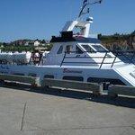 le M.V. Delga 1 le navire le plus gros à Percé, une capacité de 150 passagers