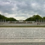 Center view of Lincoln Memorial