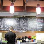 Extensive chalkboard menu