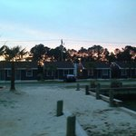 View of the cottages standing on the dock!