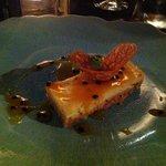 superbe cheesecake aux fruits de la passion