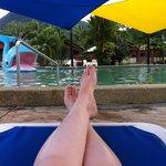 Lazing around by the Sun Lagoon