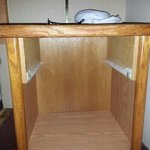 the night stand without the drawer