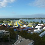 View from our room over the Cirque du Soleil Grand Chapiteau