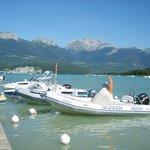 Le ponton privé du camping pour amarrer votre bateau