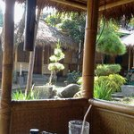 Taken from one of the huts where we sat on the floor to eat