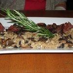 hangar steak w/mushroom risotto