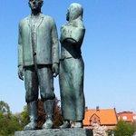 Utvandrarmonumentet Karl-Oskar och Kristina