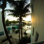 Pool, beach, sunrise