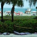 Private beachvolley field, private beach