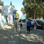 The street below the hotel, one of many charming walks in Sidi bou Said.