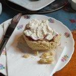 Scone with jam & cream