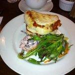 Meatball & Mozarella panini