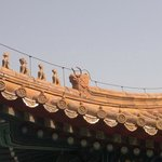 Close up of the roof animals in the Forbidden City