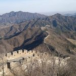 A breathtaking view from the top of the higher mountain on the wall at Mutianyu. Priceless.