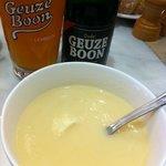 soupe d'asperge et bière gueuze