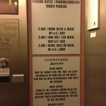 Parking fees in the elevator