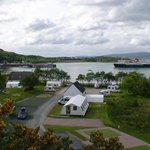 Caravan pitches by the sea