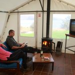 The multifuel stove in the Shieling Common Room