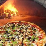 Delicious Firewood baked pizza
