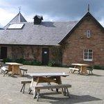 Harestanes Visitor Centre courtyard.