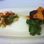 Fillet with shrimp salad