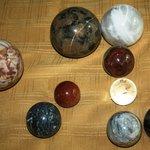 Sparkling, unique spheres