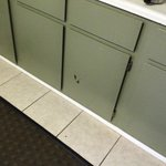 old cabinets (maybe new green paint)