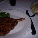 Cowboy Steak w/ Garlic Mashed Potatoes