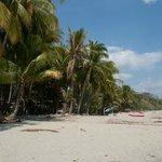 strand voor het huisje