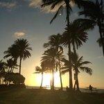 final de tarde em Waikki Beach