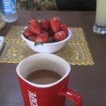 capuccino & strawberrys
