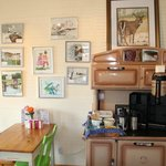 interior of Best Coast Coffee and Gallery - Broad Cove
