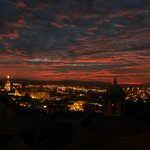 Xmas over San Miguel at sunset.