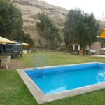 Pool, Garden and Camping area