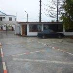 Car Park, Reception and Restaurant.