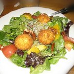 Goat Cheese salad with Mango Viniagrette
