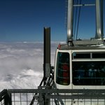 Cable car at the top of the Aguille Rouge Glacier