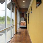 This is the long hall to walk down to place your order