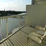 Balcony overlooking Hillsborough River
