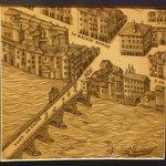 Plan scénographique de Lyon / Pont du change