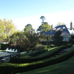 Outdoor pool and Darley's Restaurant