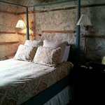 exposed stone walls in the room - atmospheric!