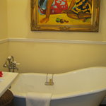 Bathtub in Upper Cottage Suite - Blocked by door when its open